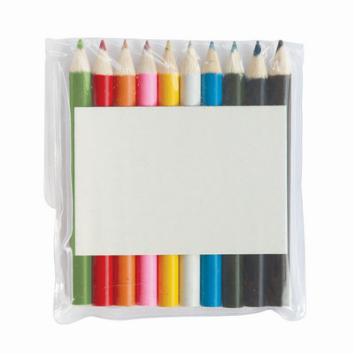 Half Pencils Colouring 10 Pack Pouch