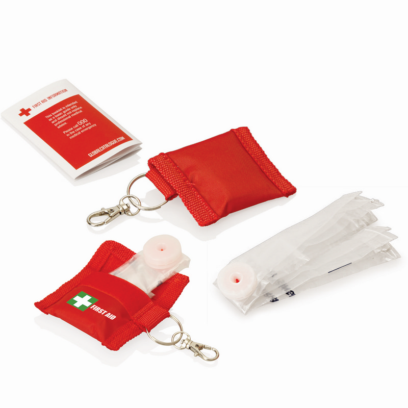 First Aid CPR Mask Keyring