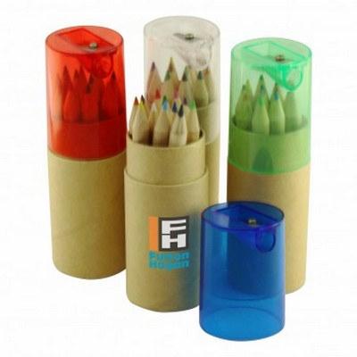 12pc Pencil Set Tube w Sharpener