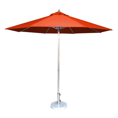 3.5m Tuscany Polished Market Umbrella, Acrylic Canvas cover