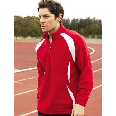 Unisex Adults 12 Zip Sports Pull Over Fleece