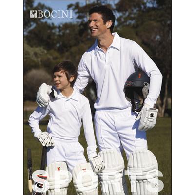Kids Long Sleeve Cricket Polo