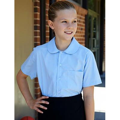 Girls Peter Pan Short Sleeve School Shirt CS1405_BOC