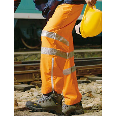 Unisex Adults Hi-Vis Pants With Reflective Tape