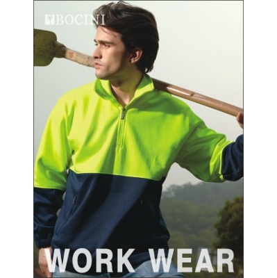 Unisex Adults Hi-Vis 1/2 Zip Fleece