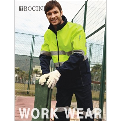 Unisex Adults Hi-Vis Soft Shell Jacket With Reflective Tape