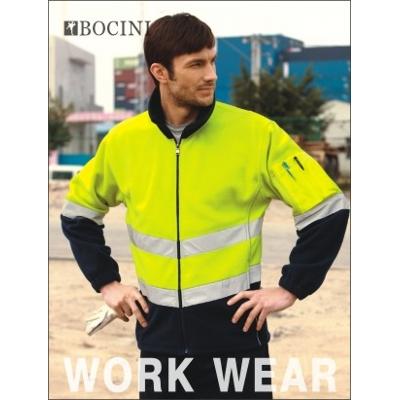 Unisex Adults Hi-Vis Full Zip Polar Fleece With Reflective Tape