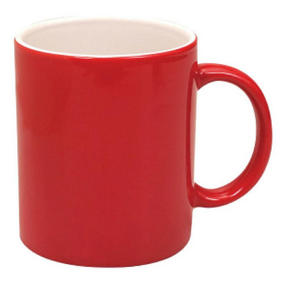 Can Mug Two Tone Gloss Red  White (MUGSCANX401_PPI)