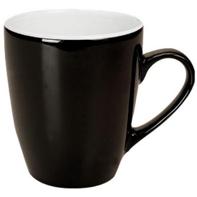 Madrid Mug Gloss Black  White (MUGSMADR201_PPI)