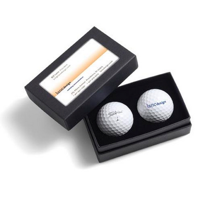 Titleist 2-Ball Business Card Box - Titleist DT TruSoft (2BBCDTS_PPI)