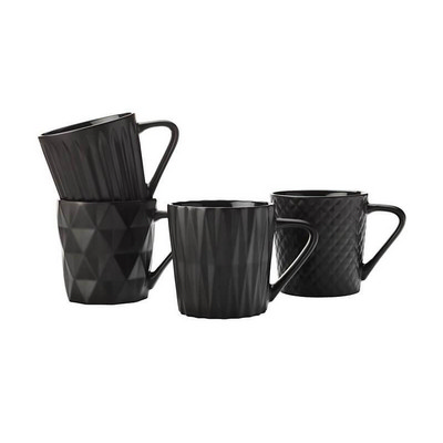 Cosmos Mug Set of 4 400ML Matte Black Gift Boxed - (printed with 1 colour(s)) DI0201_PPI