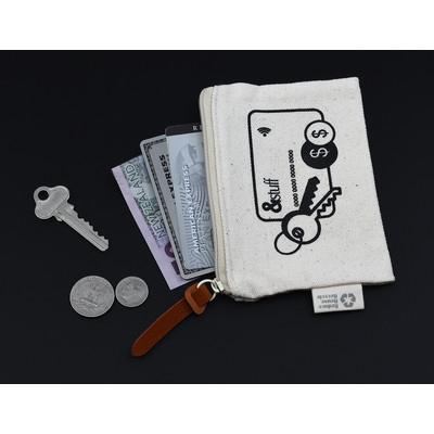 Calico Card & Key Pouch 8.5cm x 13cm