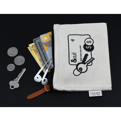 Calico Card & Key Pouch 12.5cm x 17cm