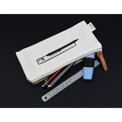 Calico Pencil Case 10cm x 21cm