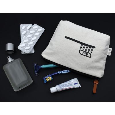 Calico ToiletryMakeup Bag 14.5cm x 22.5cm x 5cm