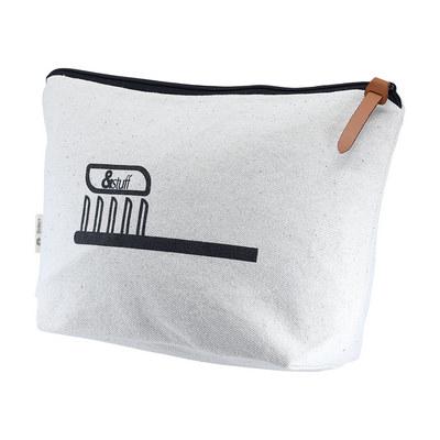 Calico Toiletry/Makeup Bag 17x27x8.5cm