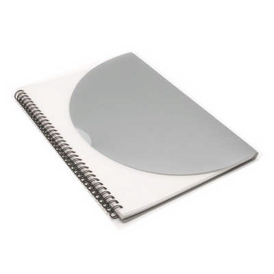 Curve Notepad - Large - Silver - (printed with 1 colour(s)) J0704_PREMIER