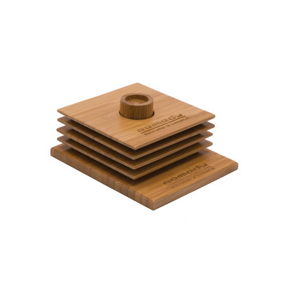 Bamboo Coaster Set - (printed with 1 colour(s)) ECO1116_PREMIER