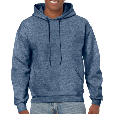 18500 Adult HB Hoody - Heather Sport Dk Navy