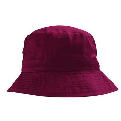 6535 PolyCotton Adjustable Bucket - Maroon