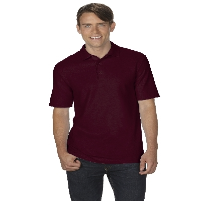 72800 DryBlend Adult Dbl Pique Polo - Maroon