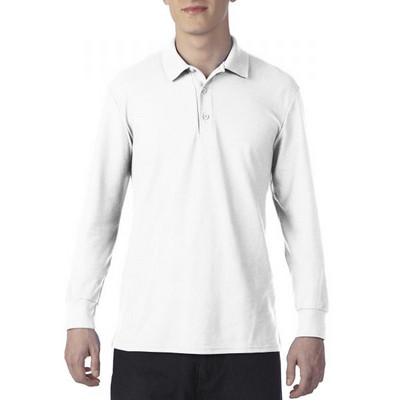 72900 DryBlend Adult LS Polo - White
