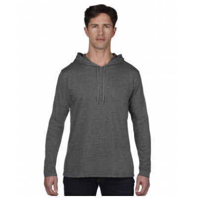 Anvil Adult Lightweight Long Sleeve Hooded Tee