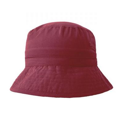 6055 Microfibre Bucket Hat - Maroon
