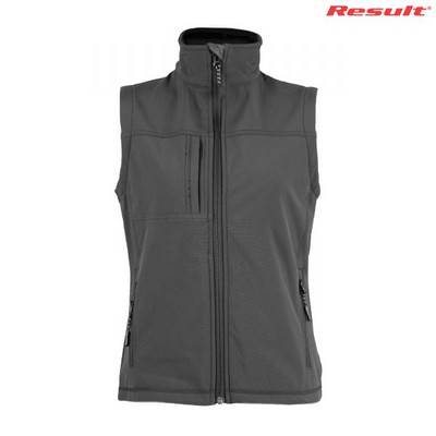 Result Ladies Soft Shell Vest - Black
