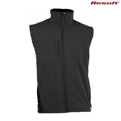Result Classic Soft Shell Vest - Black