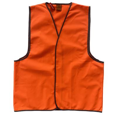 Work-Guard Safety Vest - Fluro Orange (No Tape)