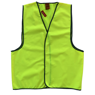 Work-Guard Safety Vest - Fluro Yellow (No Tape)