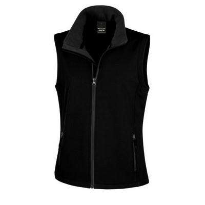 Result Core Printers Adult Soft Shell Vest - Black