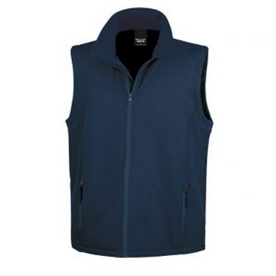 Result Core Printers Adult Soft Shell Vest - Navy