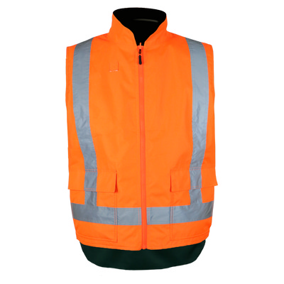 Work-Guard Rev. Fleece lined TTMC Vest - Fluro Orange