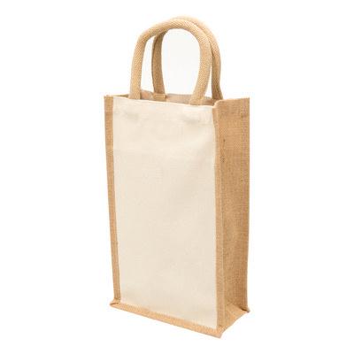 Eco Jute 2 Bottle Wine Bag