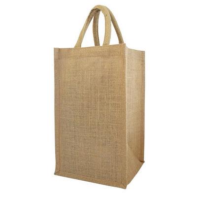 Four Bottle Jute Tote Bag