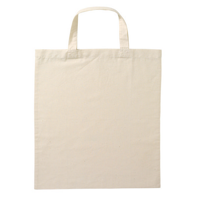 Calico Bag Short Handle - Natural