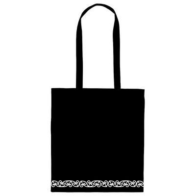 NZ Motif Calico Bag Long Handles