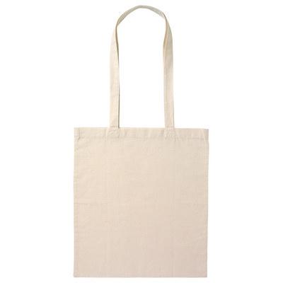 Calico Bag Long Handle - Natural