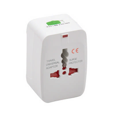 Square Universal Travel Adapter - (printed with 1 colour(s)) PC4706_PC