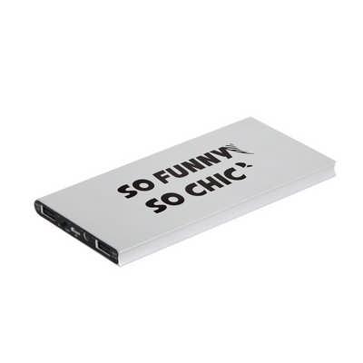 8000mAh Metal Solar Power Bank