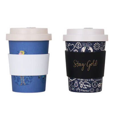 350ml Reusable Bamboo Coffee Cup with Screw Lid