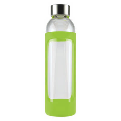 550ml Glass Drink Bottle With Stainless Steel Lid - (printed with 1 colour(s)) PCD055_PC