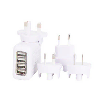 4 Ports Usb Travel Adapter - (printed with 1 colour(s)) PCH036_PC