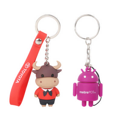 Custom Shaped 3D  PVC Keyring