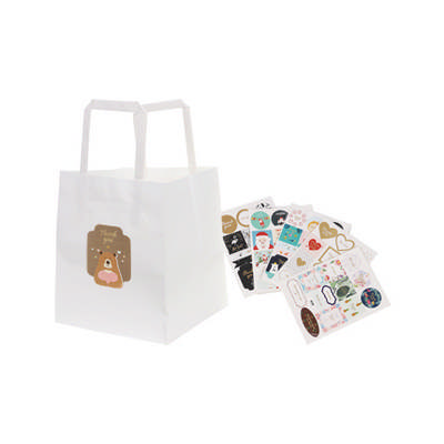 Flat Handle Kraft Paper Bag(150x170x150mm) - (printed with 1 colour(s)) PCPB020_PC