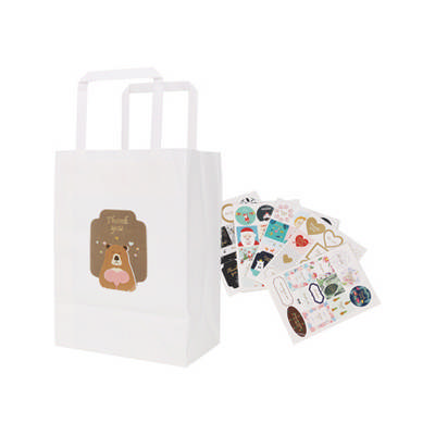 Flat Handle Kraft Paper Bag(175x240x110mm) - (printed with 1 colour(s)) PCPB021_PC