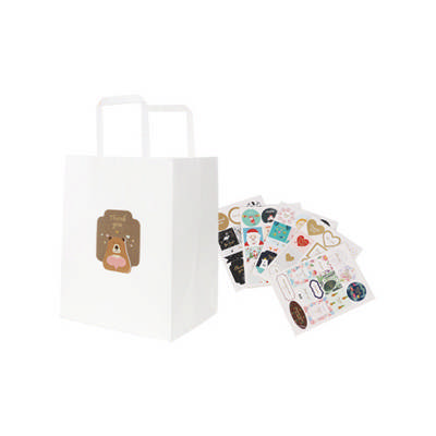 Flat Handle Kraft Paper Bag(215x265x165mm) - (printed with 1 colour(s)) PCPB022_PC