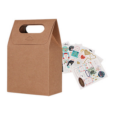 Die Cut Handle Bag(100x160x60mm) - (printed with 1 colour(s)) PCPB030_PC